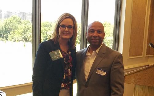 Wallace Eason with Pamela Clapp, RIMS Secretary