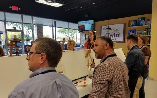 2018 Social Event Pics Painting With A Twist Dallas Cpcu Society